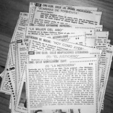 Coleccionismo de Revista Teleprograma: RECORTES DE LAS PELICULAS EMITIDAS EN TELEVISION ESPAÑOLA DE LA REVISTA TP. Lote 180496117