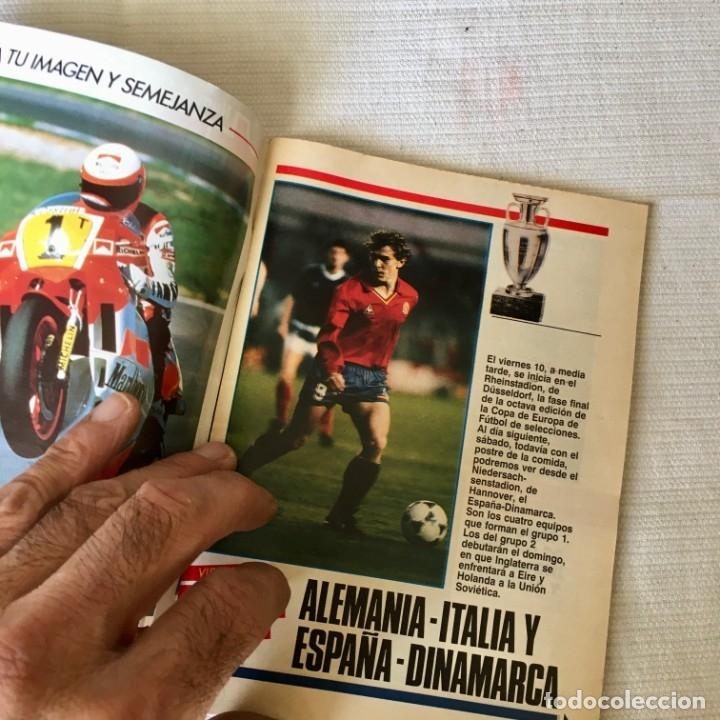Coleccionismo de Revista Teleprograma: Revista TP nº 1157 - Junio 1988 - Todo sobre la Eurocopa, portada Butragueño Seleccion nacional - Foto 3 - 182100246
