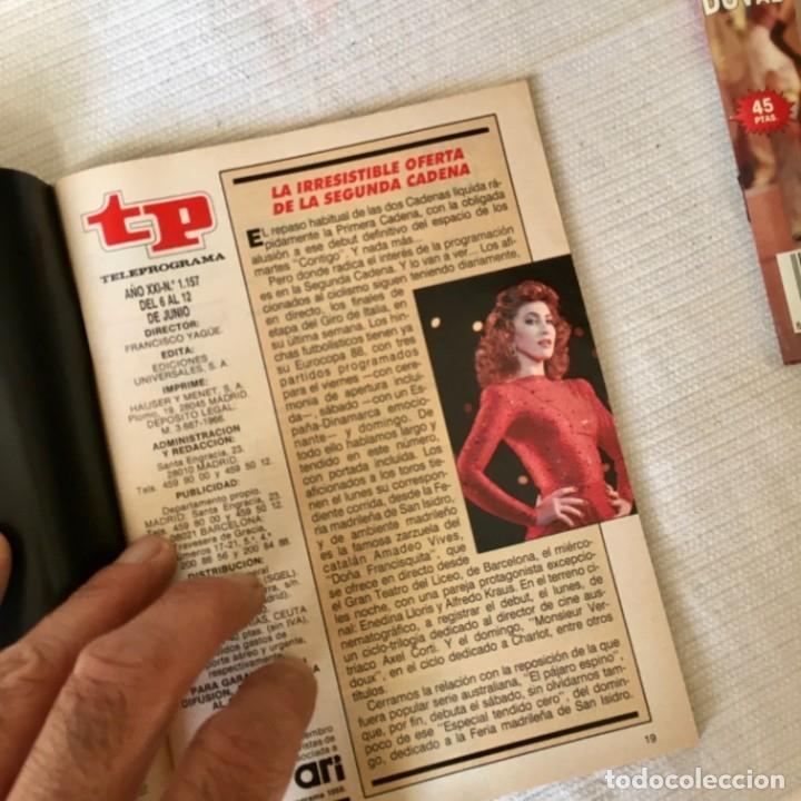 Coleccionismo de Revista Teleprograma: Revista TP nº 1157 - Junio 1988 - Todo sobre la Eurocopa, portada Butragueño Seleccion nacional - Foto 6 - 182100246