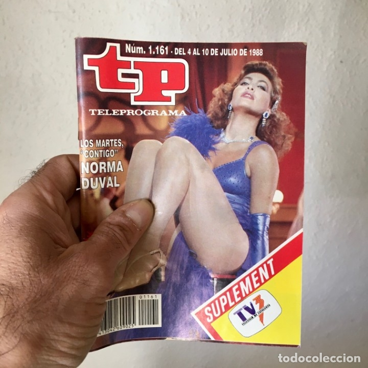 REVISTA TP Nº 1161 - DEL 4 AL 10 DE JULIO 1988 - PORTADA NORMA DUVAL (Coleccionismo - Revistas y Periódicos Modernos (a partir de 1.940) - Revista TP ( Teleprograma ))