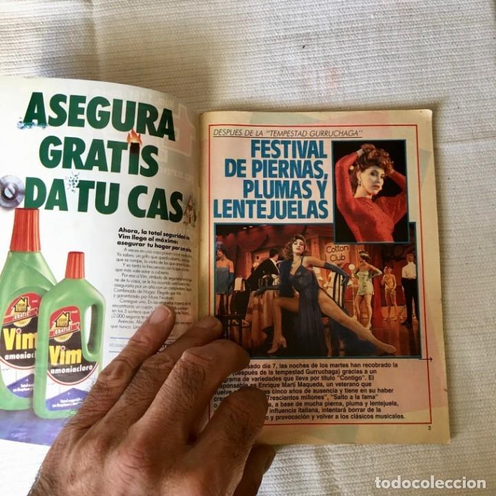 Coleccionismo de Revista Teleprograma: Revista TP nº 1161 - del 4 al 10 de Julio 1988 - portada Norma Duval - Foto 2 - 182100620