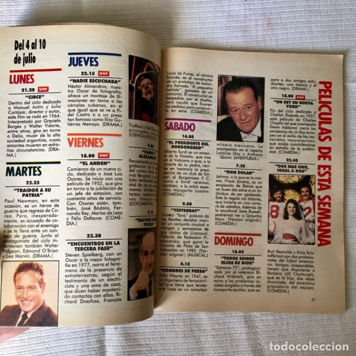 Coleccionismo de Revista Teleprograma: Revista TP nº 1161 - del 4 al 10 de Julio 1988 - portada Norma Duval - Foto 4 - 182100620