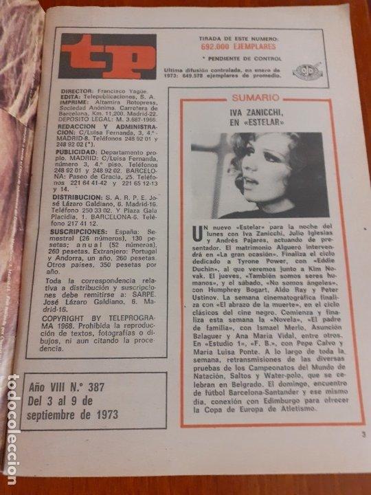 Coleccionismo de Revista Teleprograma: revista teleprograma de n387 de 1973 - Foto 2 - 182492788