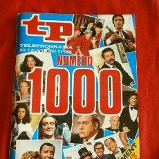 Coleccionismo de Revista Teleprograma: REVISTA TP Nº 1000 EDICIÓN ESPECIAL (TELEPROGRAMA) DEL 3 AL 9 DE JUNIO DE 1985 - EDICIÓN EXTRA. Lote 182874916