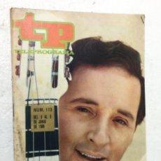 Coleccionismo de Revista Teleprograma: TP TORREBRUNO 113 AÑO 1968 ORIGINAL ANTIGUO. R80. Lote 184460435