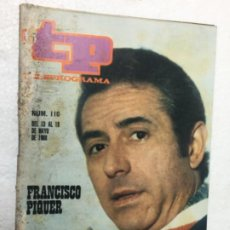 Coleccionismo de Revista Teleprograma: TP FRANCISCO PIQUER NÚMERO 110 AÑO 1968 ORIGINAL ANTIGUO. R80. Lote 184460746