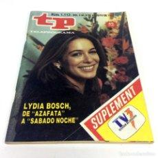 Coleccionismo de Revista Teleprograma: TELEPROGRAMA TP 1113 - AGOSTO 1987 - PORTADA LYDIA BOSCH. Lote 186257183