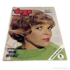 Coleccionismo de Revista Teleprograma: TELEPROGRAMA TP 197 - ENERO 1970 - PORTADA BÁRBARA BAIN MISIÓN IMPOSIBLE. Lote 186257540