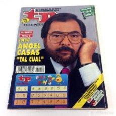 Coleccionismo de Revista Teleprograma: TELEPROGRAMA TP 1400 - ENERO 1993 - PORTADA ÁNGEL CASAS. Lote 186260952