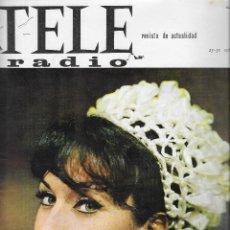 Coleccionismo de Revista Teleprograma: REVISTA TELE RADIO Nº 409, 25 - 31 OCTUBRE 1965 , MARTA PADOVAN, MANUEL BENITEZ EL CORDOBES. Lote 192988968