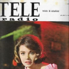 Coleccionismo de Revista Teleprograma: REVISTA TELE RADIO Nº 383 26 ABRIL - 2 MAYO 1965, SYLVA KOSCINA, LILI ALVAREZ FOTOS ORIGINALES. Lote 193015990