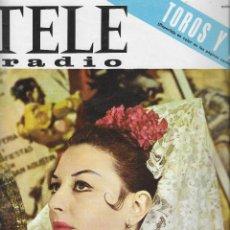 Coleccionismo de Revista Teleprograma: REVISTA TELE RADIO Nº 442, 13-19 JUNIO 1966 , FIESTA DE SAN ISIDRO, FOTOS ORIGINALES,. Lote 193181358