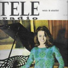 Coleccionismo de Revista Teleprograma: REVISTA TELE RADIO Nº 446, 11-17 JULIO 1966 ,BEATRICE ALTARRIBA. Lote 193238318