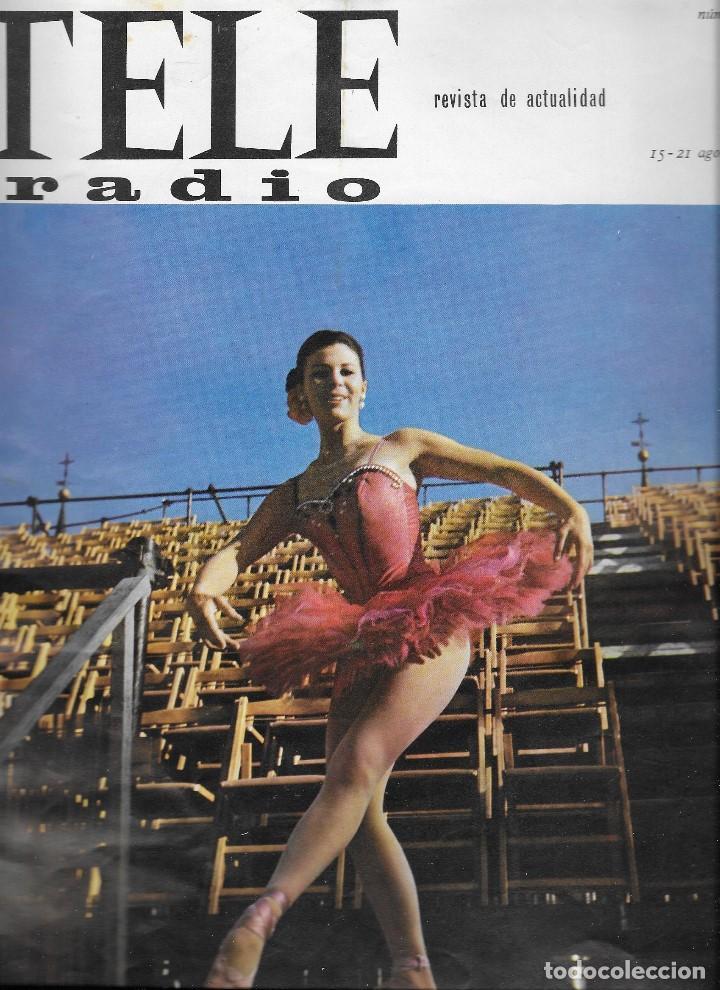 REVISTA TELE RADIO Nº 451, 15-21 AGOSTO 1966, DAFNE DALE, GINA LOLLOBRIGIDA, CARMEN SEVILLA (Coleccionismo - Revistas y Periódicos Modernos (a partir de 1.940) - Revista TP ( Teleprograma ))