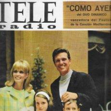 Coleccionismo de Revista Teleprograma: REVISTA TELE RADIO Nº 459, 10-16 OCTUBRE 1966, ELLIOT NESS, ADAMO, FOTOS ORIGINALES. Lote 193269681