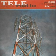 Coleccionismo de Revista Teleprograma: REVISTA TELE RADIO Nº 323, 2-8 MARZO 1964. Lote 193360488