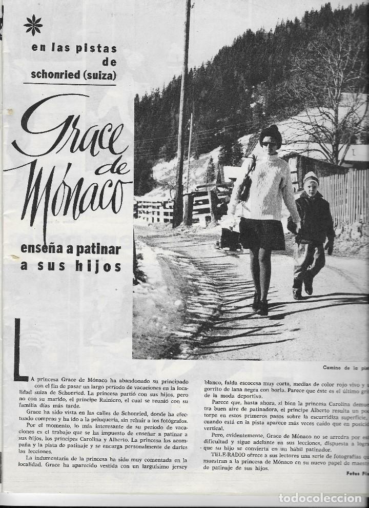 Coleccionismo de Revista Teleprograma: REVISTA TELE RADIO Nº 326, 23-29 MARZO 1964, EN PAGINAS INTERIORES GRACE DE MONACO - Foto 2 - 193383853
