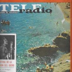 Coleccionismo de Revista Teleprograma: REVISTA TELE RADIO Nº 347, 17-23 AGOSTO 1964. ROCIO DURCAL EN PAGINAS INTERIORES. Lote 193613723