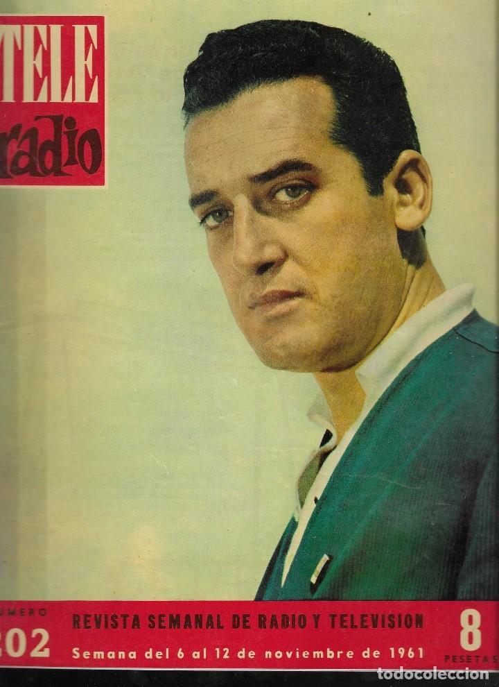 REVISTA TELE RADIO Nº 202, 6-12 NOVIEMBRE 1961,ALECO PANDAS, CONCHITA VELASCO, ISMAEL MERLO (Coleccionismo - Revistas y Periódicos Modernos (a partir de 1.940) - Revista TP ( Teleprograma ))
