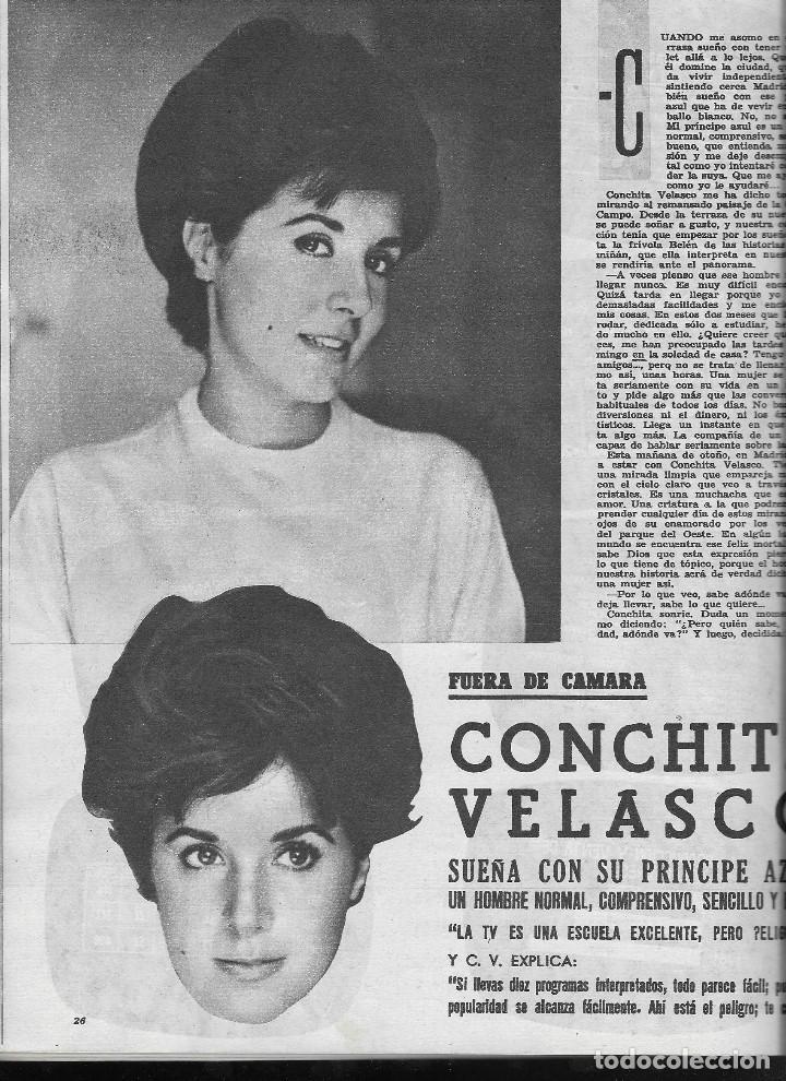 Coleccionismo de Revista Teleprograma: REVISTA TELE RADIO Nº 202, 6-12 NOVIEMBRE 1961,ALECO PANDAS, CONCHITA VELASCO, ISMAEL MERLO - Foto 2 - 193672915