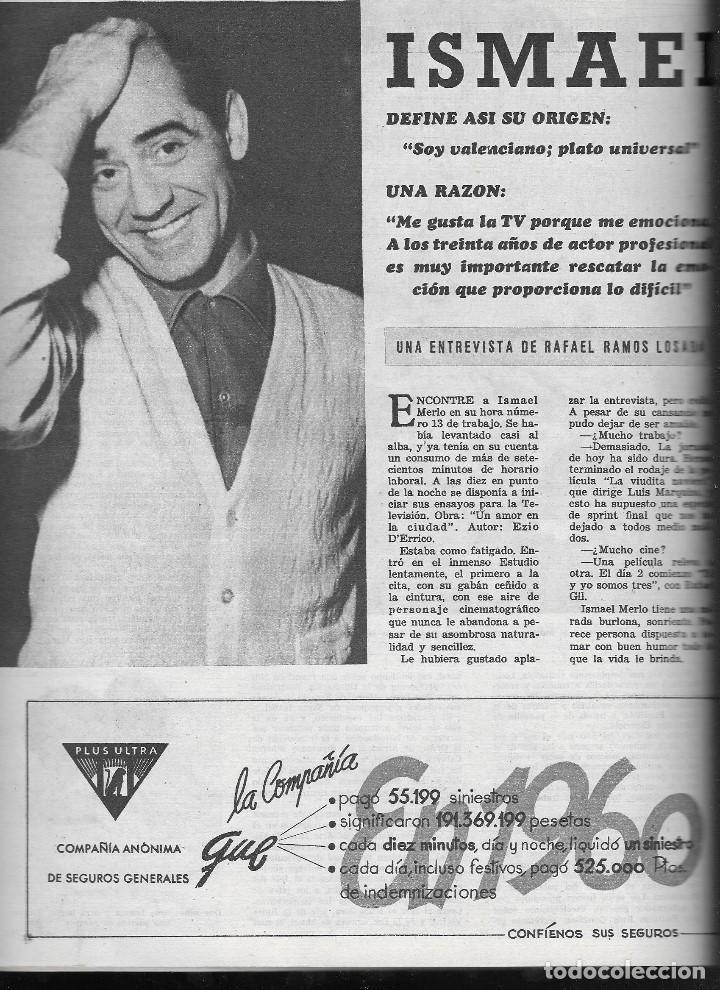 Coleccionismo de Revista Teleprograma: REVISTA TELE RADIO Nº 202, 6-12 NOVIEMBRE 1961,ALECO PANDAS, CONCHITA VELASCO, ISMAEL MERLO - Foto 3 - 193672915
