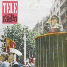 Coleccionismo de Revista Teleprograma: REVISTA TELE RADIO Nº 186, 17-23 JULIO 1961, FESTIVAL DE CINE DE SAN SEBASTIAN EN PAGINAS INTERIORES. Lote 193776915