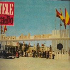 Coleccionismo de Revista Teleprograma: REVISTA TELE RADIO Nº 192, 28 AGOSTO - 3 SEPTIEMBRE 1961, FERIA DEL MAR. Lote 193778747
