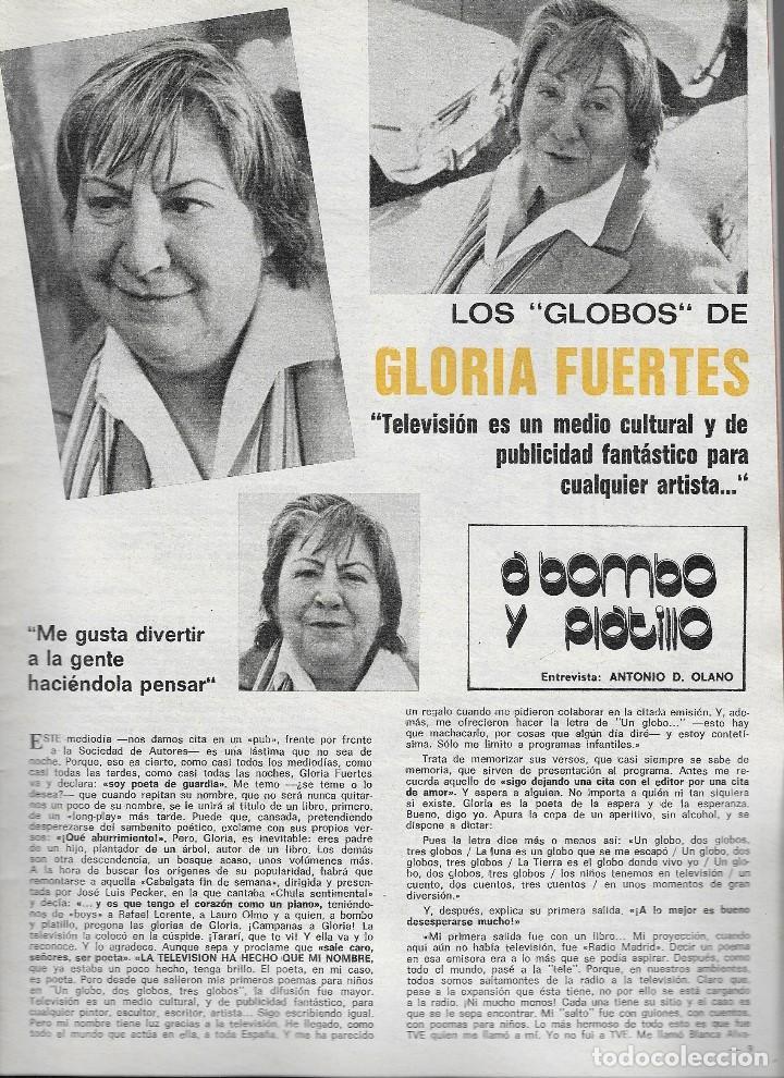 Coleccionismo de Revista Teleprograma: REVISTA TELE RADIO Nº 948, 23-29 FEBREO 1976,CHARLES BRONSON, GLORIA FUERTES Y LA CASA DE LA PRADERA - Foto 2 - 193885677