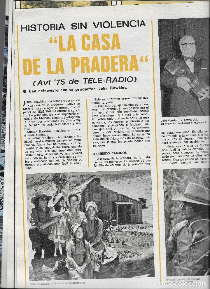 Coleccionismo de Revista Teleprograma: REVISTA TELE RADIO Nº 948, 23-29 FEBREO 1976,CHARLES BRONSON, GLORIA FUERTES Y LA CASA DE LA PRADERA - Foto 3 - 193885677