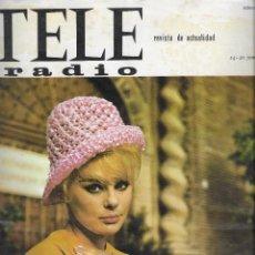 Coleccionismo de Revista Teleprograma: REVISTA TELE RADIO Nº 390,14-20 JUNIO 1965,ELKA SOMMER, 24 HORAS DE LE MANS,ISABEL BAUZA. Lote 193887298