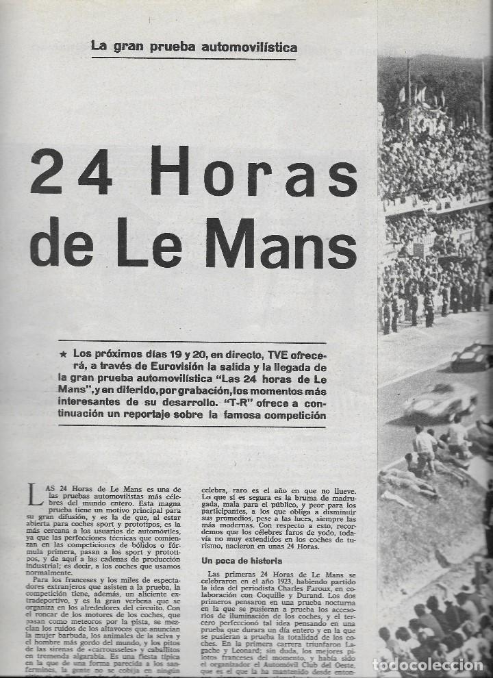 Coleccionismo de Revista Teleprograma: REVISTA TELE RADIO Nº 390,14-20 JUNIO 1965,ELKA SOMMER, 24 HORAS DE LE MANS,ISABEL BAUZA - Foto 2 - 193887298