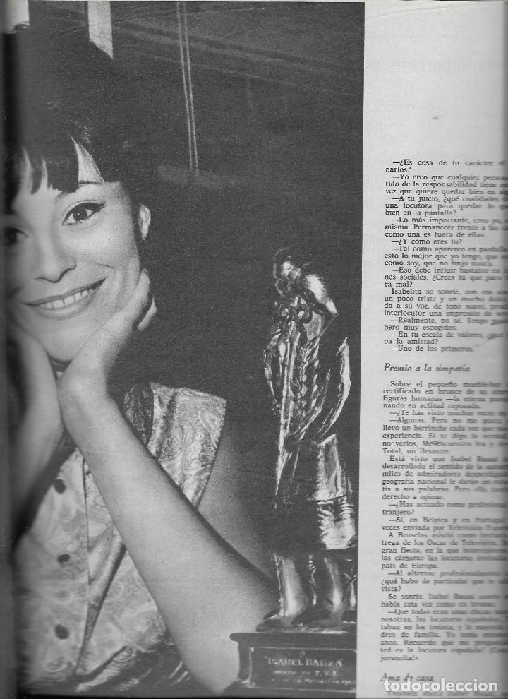 Coleccionismo de Revista Teleprograma: REVISTA TELE RADIO Nº 390,14-20 JUNIO 1965,ELKA SOMMER, 24 HORAS DE LE MANS,ISABEL BAUZA - Foto 3 - 193887298