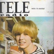 Coleccionismo de Revista Teleprograma: REVISTA TELE RADIO Nº 391,21-27 JUNIO 1965, KARINA, AZORIN.. Lote 193887907