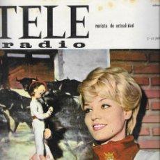 Coleccionismo de Revista Teleprograma: REVISTA TELE RADIO Nº 393, 5-11JULIO 1965 , TANIA VELIA, SAN FERMINES. Lote 193889435