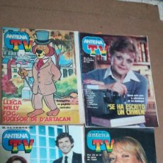 Coleccionismo de Revista Teleprograma: 8 REVISTAS SUPLEMENTO ANTENA TV, WILLY FOG, JOSÉ LUIS MORENO, AMESTOY, GLITTER, ETC. VER FOTOS. Lote 193965823
