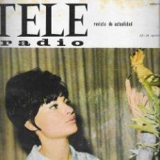 Coleccionismo de Revista Teleprograma: REVISTA TELE RADIO Nº 400, 23-29 AGOSTO 1965, ISABEL BAUZA. Lote 194073381