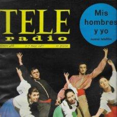 Coleccionismo de Revista Teleprograma: REVISTA TELE RADIO Nº 488, 1-7 MAYO 1967, TELE RITMO. Lote 194148385