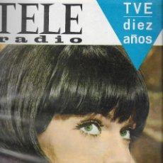 Coleccionismo de Revista Teleprograma: REVISTA TELE RADIO Nº 463 ,7-13 NOVIEMBRE1966, AGENTE 086, GEMMA CUERVO EN PAGINAS INTERIORES. Lote 194182132