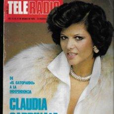 Colecionismo da Revista Teleprograma: REVISTA TELE RADIO Nº 951, 15-21 MARZO 1976, CLAUDIA CARDINALE, CARMEN MAURA, CAMILO SESTO. Lote 194249128