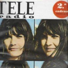 Coleccionismo de Revista Teleprograma: REVISTA TELE RADIO Nº 465, 21-27 NOVIEMBRE 1966, SANDIE SHAW, FRANK SINATRA. Lote 194267507