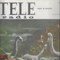 Coleccionismo de Revista Teleprograma: REVISTA TELE RADIO Nº356, 19-25 OCTUBRE 1964, WALT DISNEY, JEAN PAUL BELMONTO. Lote 194548772