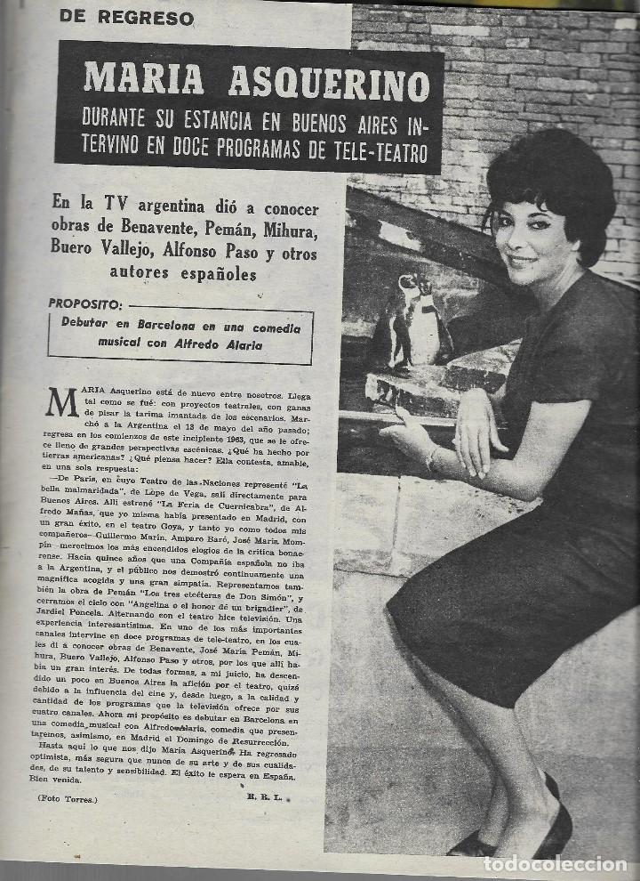 Coleccionismo de Revista Teleprograma: REVISTA TELE RADIO Nº 266, 28 ENERO - 3 FEBRERO 1963, IGNACIO DE PAUL, MARIA ASQUERINO - Foto 2 - 194555337