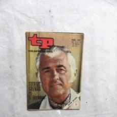Coleccionismo de Revista Teleprograma: REVISTA TP TELEPROGRAMA Nº 258 DEL 15 AL 21 DE MARZO DE 1971 STEWART GRANGER EL VIRGINIANO . Lote 194621298