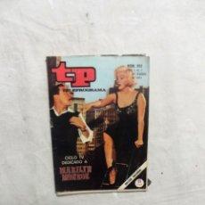 Coleccionismo de Revista Teleprograma: REVISTA TP TELEPROGRAMA Nº 252 DEL 1 AL 7 DE FEBRERO DE 1971 CICLO TV DEDICADO A MARILYN MONROE . Lote 194622170