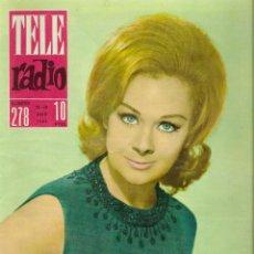 Coleccionismo de Revista Teleprograma: REVISTA TELE RADIO Nº 277, 22-28 ABRIL 1963, IVONNE BASTIEN, ATLETICO DE MADRID CAMPEON DE LA RECOPA. Lote 194639147