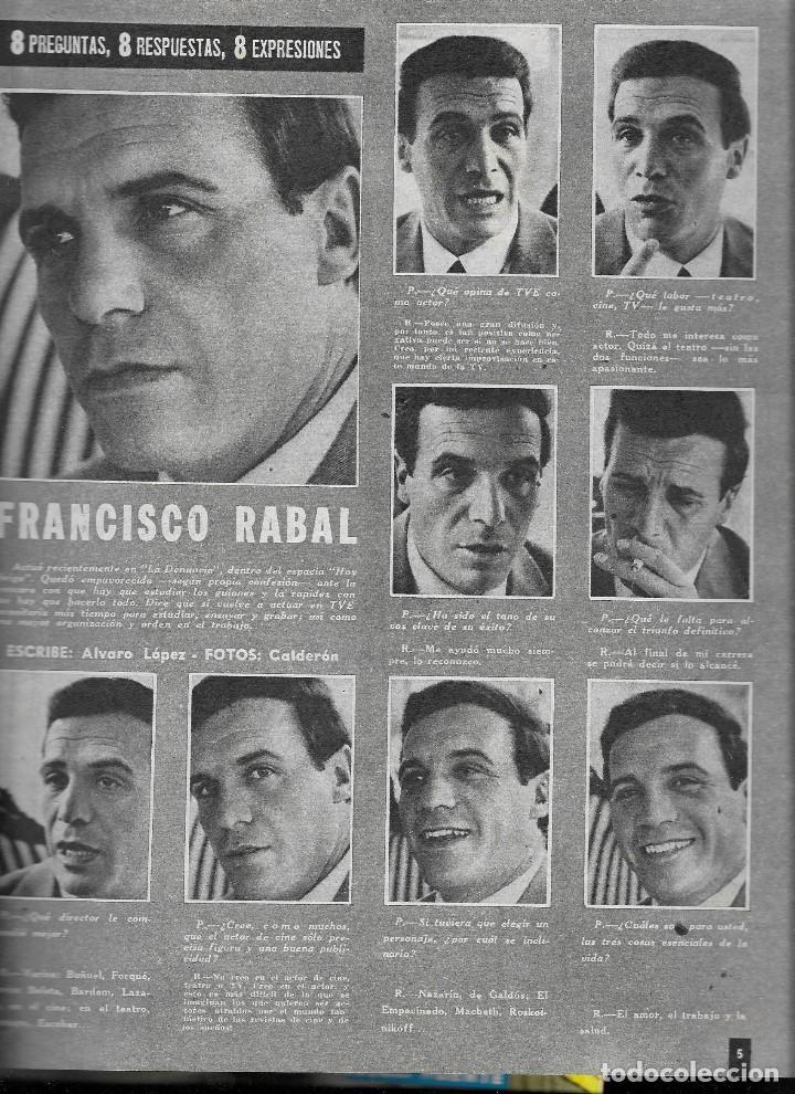 Coleccionismo de Revista Teleprograma: REVISTA TELE RADIO Nº 279, 29 ABRIL - 5 MAYO 1963, JESUS PUENTE , FRANCISCO RABAL - Foto 2 - 194639411