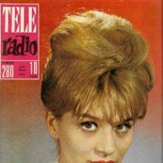 Coleccionismo de Revista Teleprograma: REVISTA TELE RADIO Nº 280, 6-12 MAYO 1963, MAITE BLASCO, VUELTA CICLISTA ESPAÑA. Lote 194639722