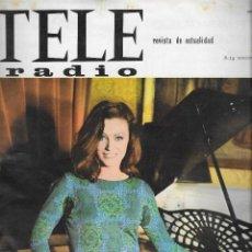 Coleccionismo de Revista Teleprograma: REVISTA TELE RADIO Nº 411 , 8-14 NOVIEMBRE 1965,BEATRICE ALTARRIBA,CESTA Y PUNTOS PAGINAS INTERIORES. Lote 194691137