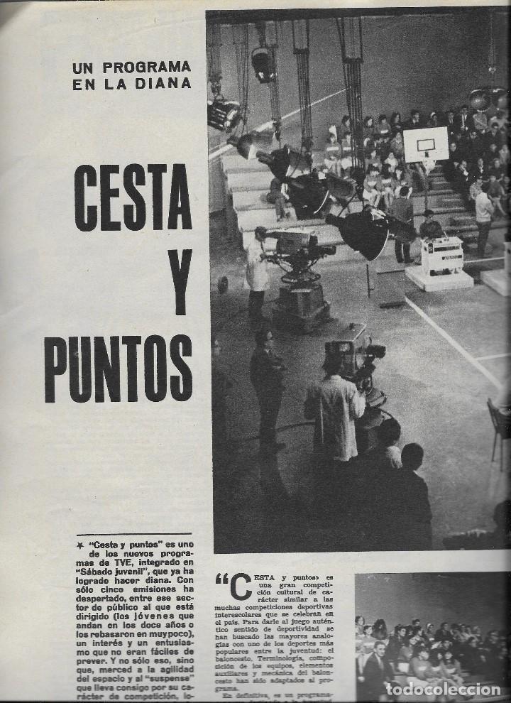 Coleccionismo de Revista Teleprograma: REVISTA TELE RADIO Nº 411 , 8-14 NOVIEMBRE 1965,BEATRICE ALTARRIBA,CESTA Y PUNTOS PAGINAS INTERIORES - Foto 2 - 194691137