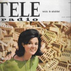 Coleccionismo de Revista Teleprograma: REVISTA TELE RADIO Nº 412, 15-21 NOVIEMBRE 1965, GLORIA CAMARA , EL JAZZ EN PAGINAS INTERIORES. Lote 194691328